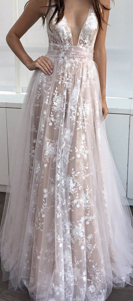 Sexy Deep V-neck Sleeveless Long Blush Prom Dress Ruched prom,prom dress,prom dresses,prom gown,prom gowns,long prom dress,sexy prom dress,fashion,women's fashion