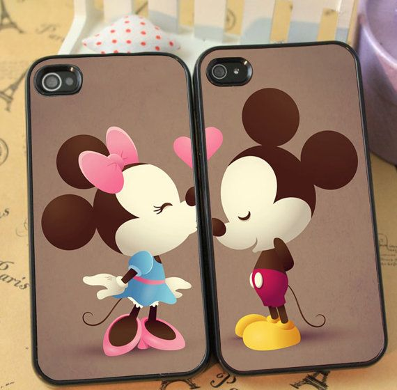 Mickey and Minne Cute Couple phone case for iphone 4/4s 5/5s Galaxy s3 s4 s5