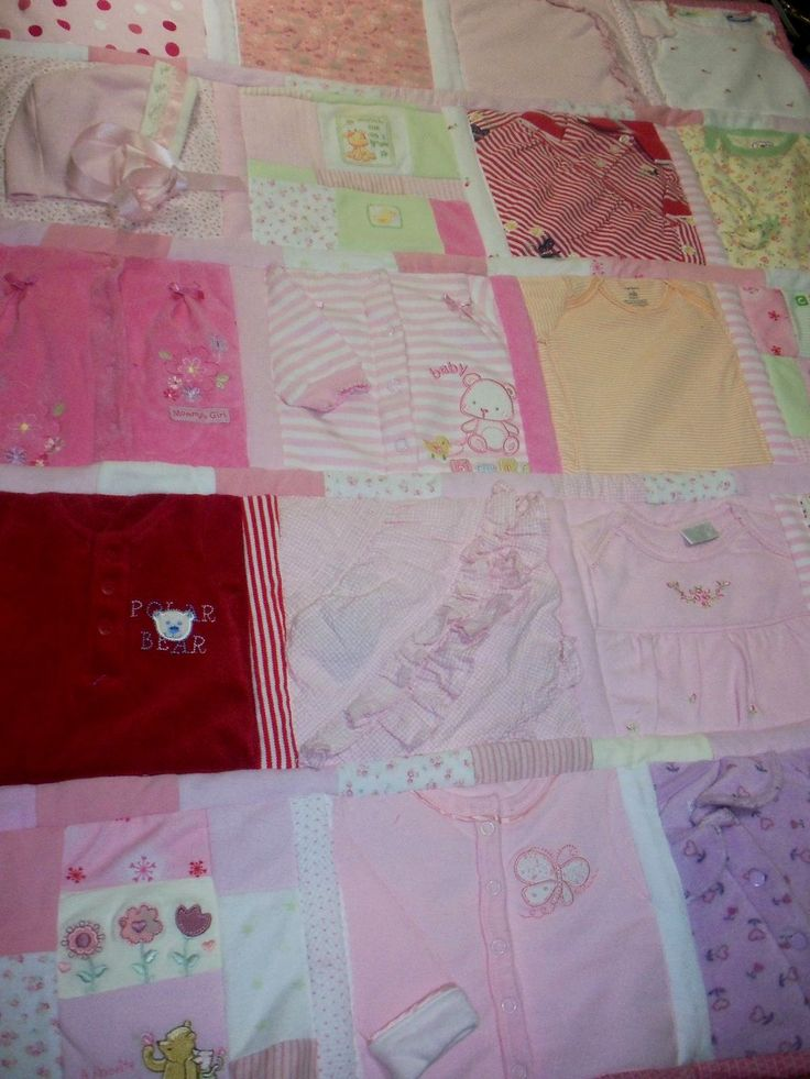 49 best images about memory quilts using clothes on Pinterest Baby clothes quilt, Old baby ...