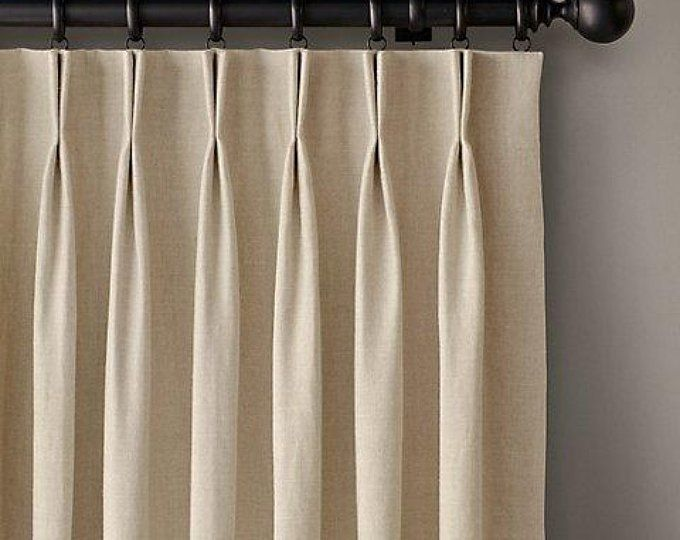 Sliding Glass Door Curtain Patio Door Curtain French Door Etsy Pinch Pleat Curtains Sliding Glass Door Curtains Pinch Pleat Drape