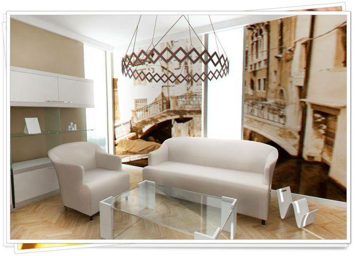 Wenecja w Twoim salonie...z naszymi stylowymi tapetami to możliwe!
