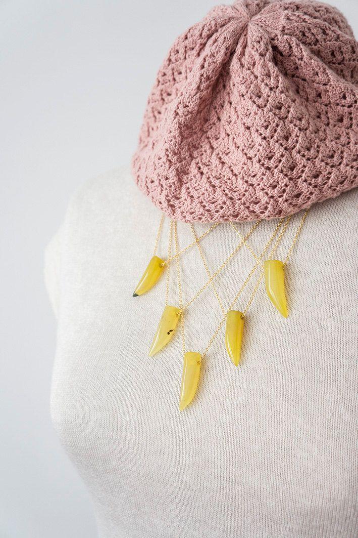 Gift For Her Citrine Necklace November Birthstone November Birthday Gift Layering Necklace Tribal Necklace Boho Necklace Layer Necklace