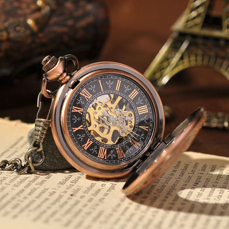 Luxury Copper Hand Wind Mechanical Pocket Watch Steampunk Watch Fashion Women Men's Vintage Pocket Watch With China reloj PW111 - free shipping worldwide