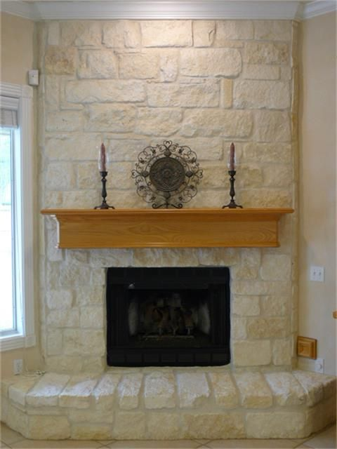 Austin Stone Fireplace Chimney Decor Seating