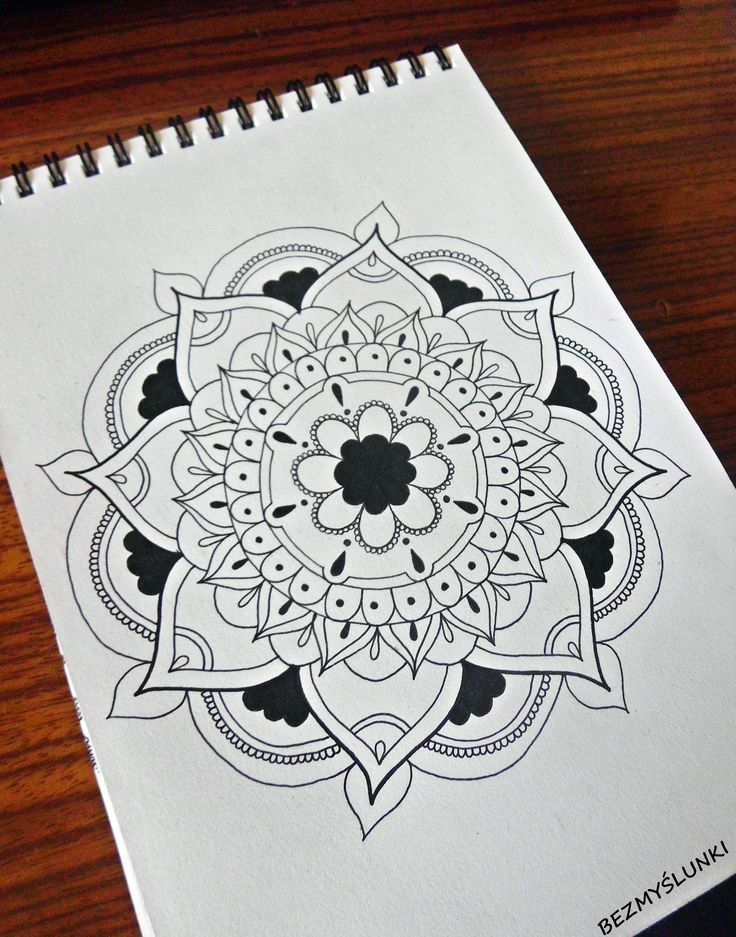 https://www.facebook.com/bezmyslunki/  #mandala #zentangle #india #drawing