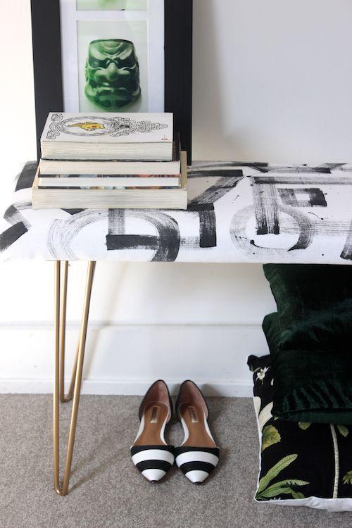 DIY Brushstroke Bench 4