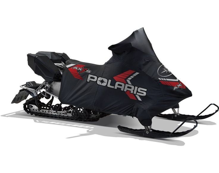 3/4 Polyester Snowmobile Cover - Black/Red by Polaris 2880431