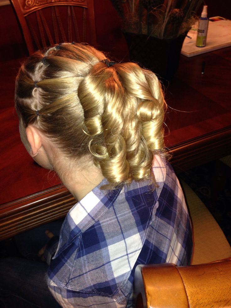 17 Best Images About Gymnastics Hair Styles For Meets On