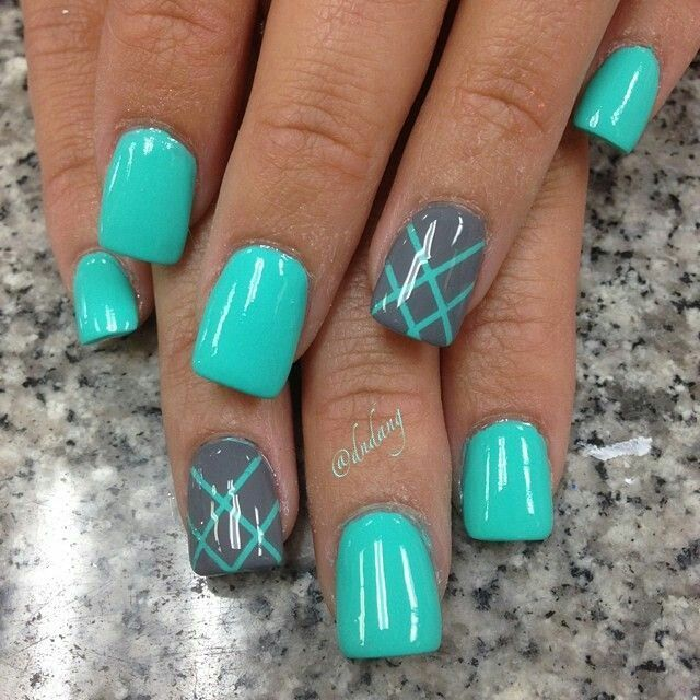 Turquoise and grey - Best 25+ Turquoise Nail Designs Ideas On Pinterest Turquoise