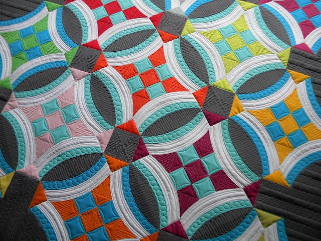 Sew Kind Of Wonderful: Urban Nine Patch Quilt. I have no words.