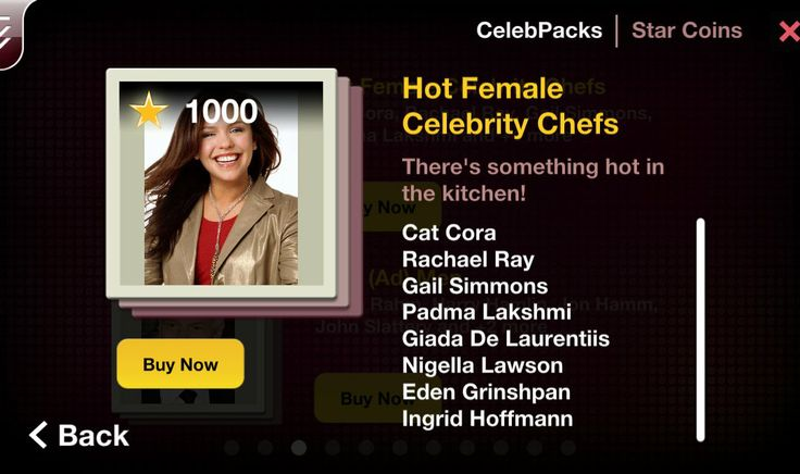 There's something hot in the kitchen! This fun CelebPack features top female celebrity chefs from Top Chef, Food Network and more. Pack includes: Cat Cora Rachael Ray Gail Simmons Padma Lakshmi Giada De Laurentiis Nigella Lawson Eden Grinshpan Ingrid Hoffmann