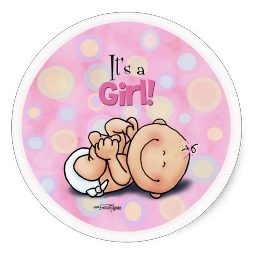 It's a Girl - Baby Congratulations! stickers