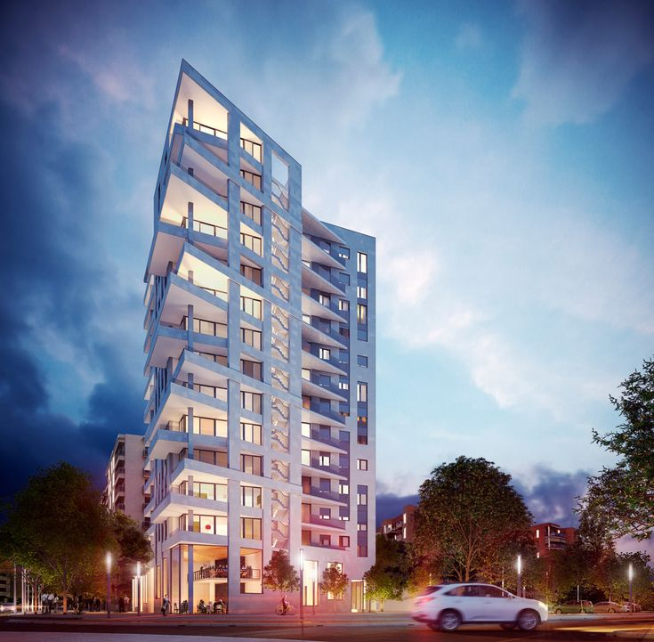 Rendering of Architecture - Project - Architectural visualization of a residential tower