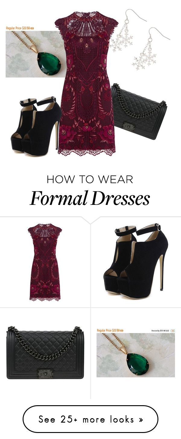"""Formal Holiday"" by serinityway on Polyvore featuring Chanel, Karen Millen and WithChic"
