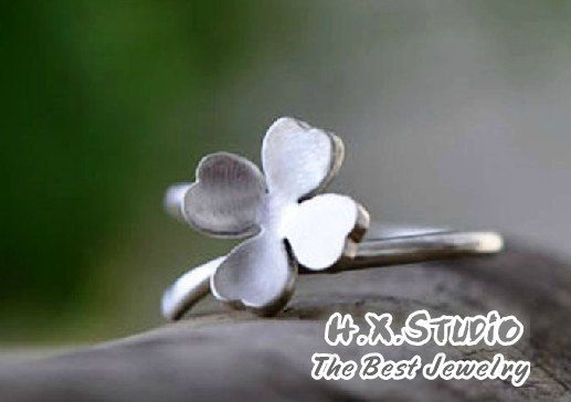 Handmade Silver Lucky Clover Wrap Ring, Handmade 925 Silver Ring, Handmade Sterling Silver Jewelry, Wholesale Available