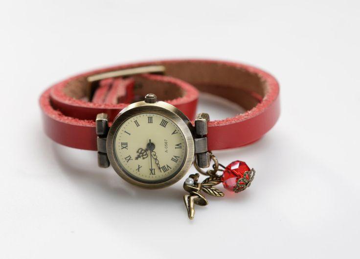 """Genuine Leather - Wristwatch, watch,""""Good Fairy"""" von ZWDesign auf Etsy"""