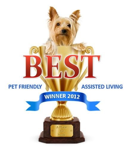 Nine of our Sunrise Senior Living communities were awarded the Best Pet-Friendly LA Assisted Living Winners of 2012! Thanks A Place for Mom!