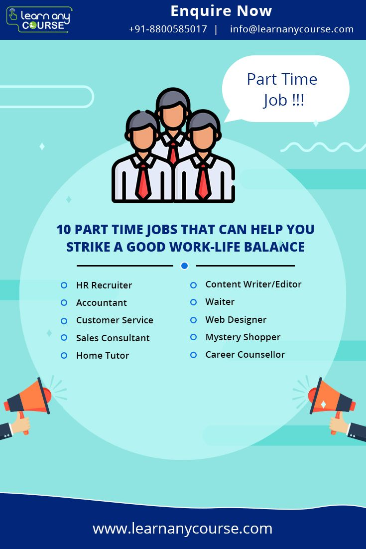 Part Time Jobs Can Provide A Steady Source Of Income While