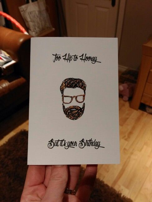 Hipster Birthday Card from www.lighthousecards.co.uk