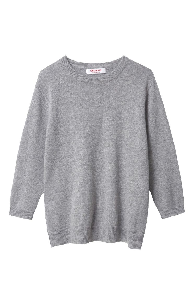 3/4 Sleeve Crewneck Pullover