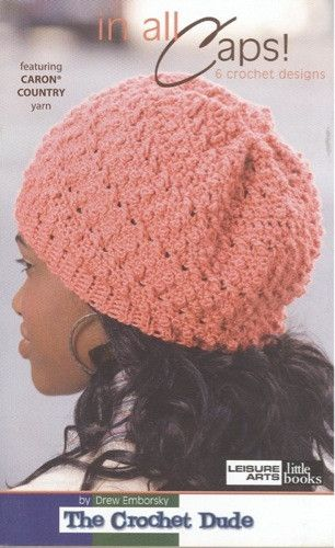 This exciting collection of crocheted headgear is the creative invention of Drew Emborsky, also known as The Crochet Dude, famous for his wildly popular blog, magazine features, books, and television