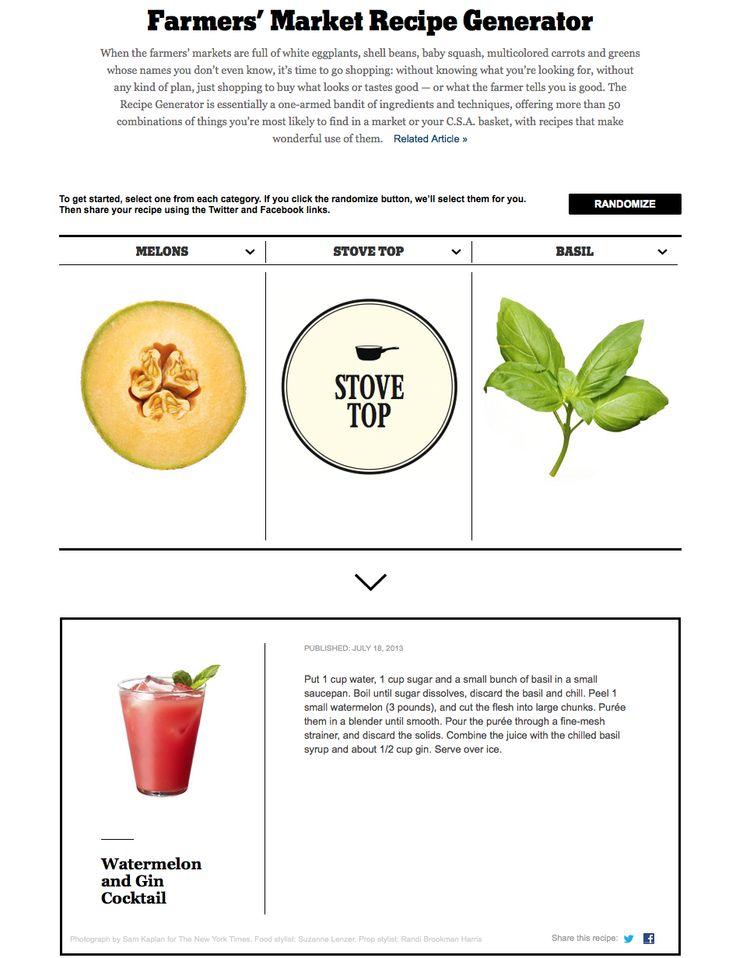 Best 25 recipe generator ideas on pinterest ingredient recipe ny times farmers market recipe generator forumfinder Images