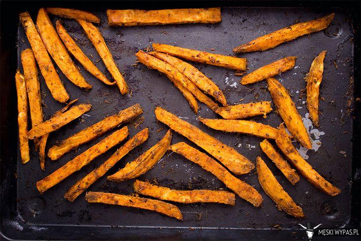 Frytki z batatów(słodkich ziemniaków) #gryz