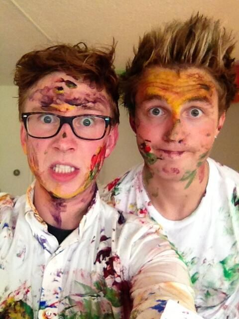 Tyler Oakley and Marcus Butler
