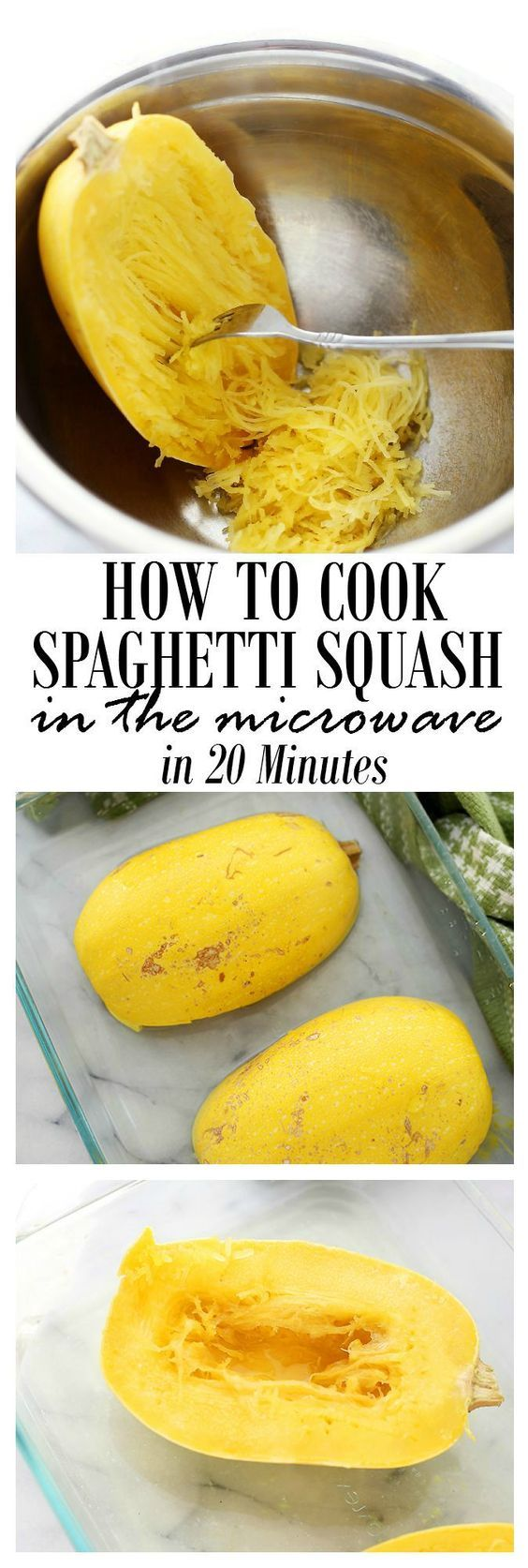 How to Cook Spaghetti Squash in the Microwave   www.diethood.com   A faster, mess-free method to cook spaghetti squash!