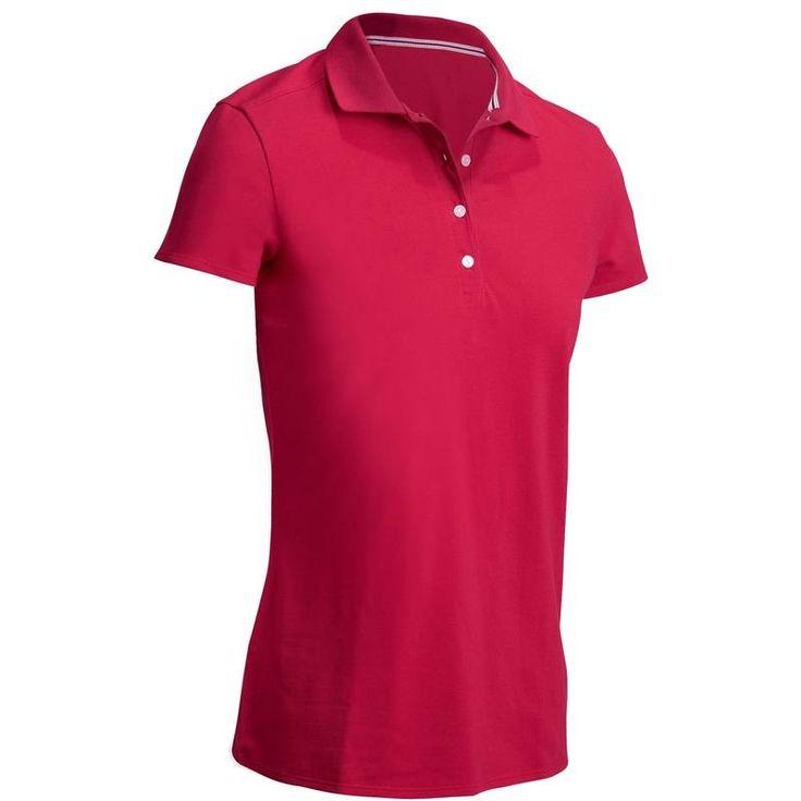 Golf_Kleding Golf - GOLFPOLO 500 DAMES ROZE CARDINAL INESIS - Golf