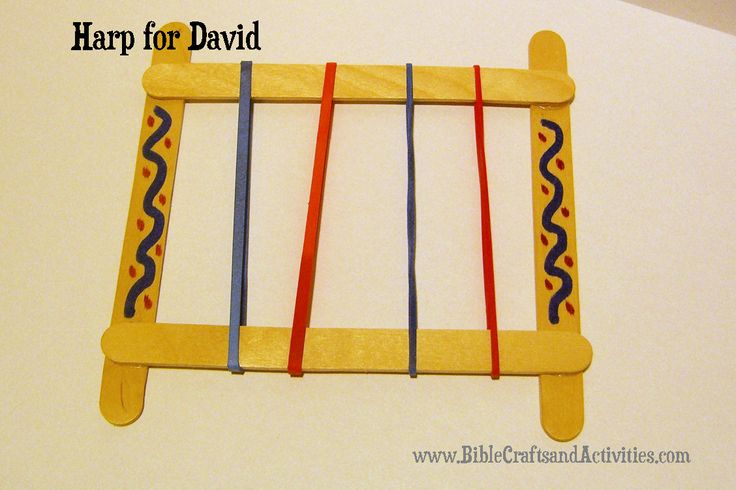 I can worship God craft idea - cute David's harp