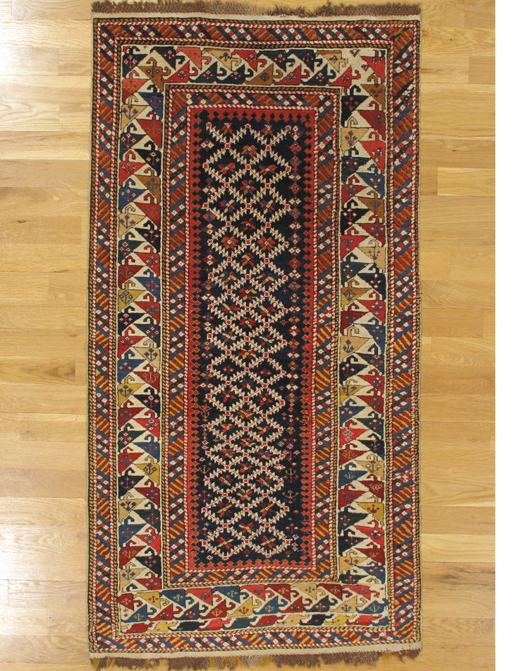 "Shirvan rug,Eastern Caucasus,circa 1880.Measurements of the piece:6'.3""x3'.2"" (191x97 cm). | Hagop Manoyan, New York"