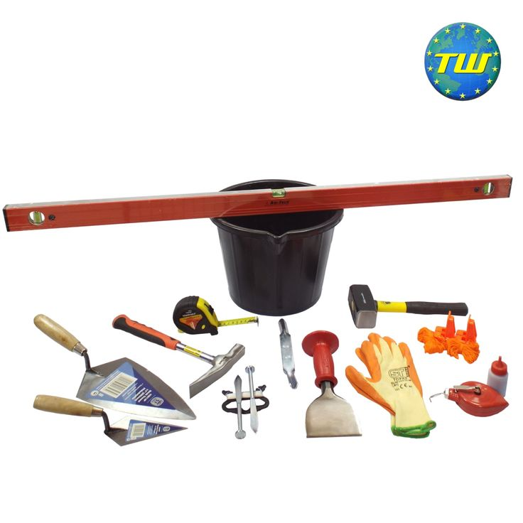 http://www.twwholesale.co.uk/product.php/section/9134/sn/Starter-Bricklayer-Tools 13 Piece Starter Bricklayer Tool Kit designed for apprenticeships, college students and new job starters. All of the tools in this set have been carefully selected by brickwork college tutors and bricklaying industry professionals - ensuring that you have the right tool for the job from day 1 as you start out on your path as a bricklayer.