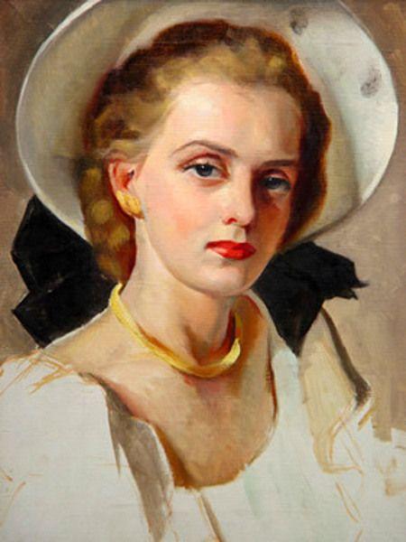 White Hat With Black Bow / Greta Kempton
