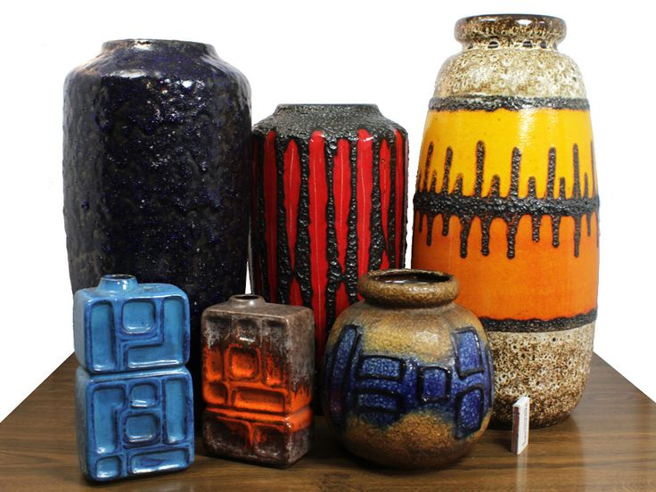 Midcentury German pottery. Fat lava has been a trend for the past few years and doesn't show any sign of abating.
