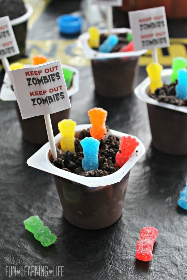 Mad Scientist Halloween Party Ideas Featuring Zombie Pudding and FREE Printables! #ad #BootasticHalloween