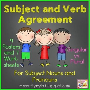 55 best Subject-Verb Agreement images on Pinterest | Subject verb ...