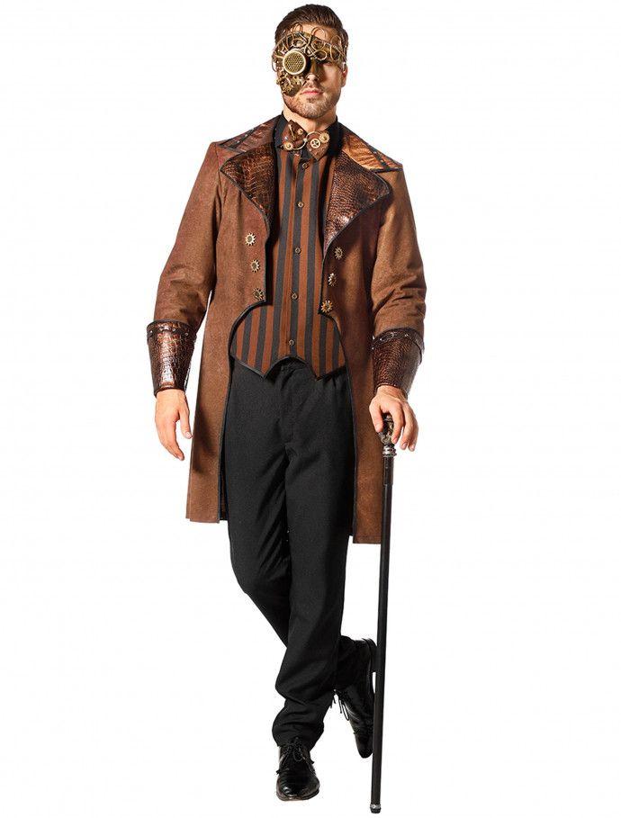 Mantel Steampunk mit Weste für Halloween » Deiters  mantel  frack  braun   schwarz 5409f52fd44d2