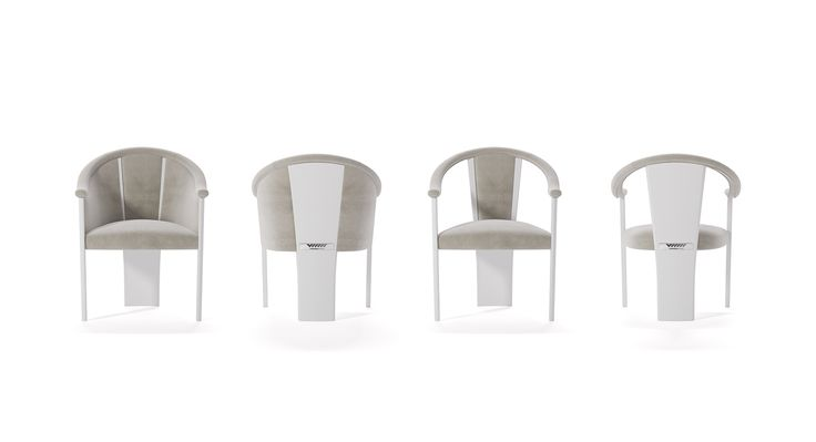 Sedie imbottite di lusso per la sala da pranzo di Vismara Design