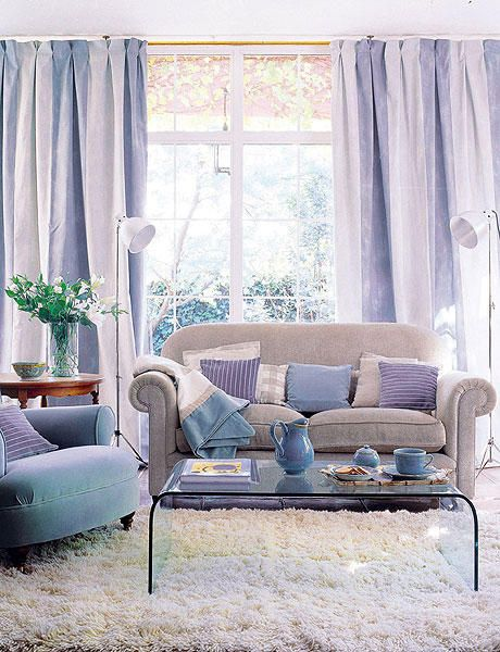 Blue+lavender is dreamy, but too much of it here.