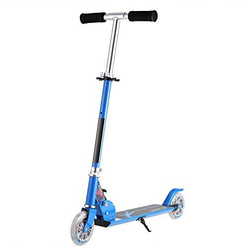 Best gift for child. Just enjoy the freedom and happiness! This kick scooter is one of the best value present you will buy your children Every child should have such a scooter, it will bring them an unforgettable childhood Foam cover detachable T-bar and adjustable height design for your... more details available at https://perfect-gifts.bestselleroutlets.com/gifts-for-teens/skates-skateboards-scooters/product-review-for-foldable-kick-scooter-for-kids-smooth-safety-2-led-ligh