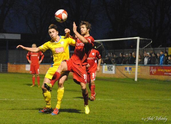 Charley Sanders King's Lynn Town FC v Buxton FC 11/1/14