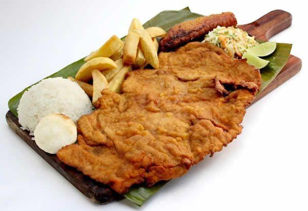 CHULETA DE CERDO, POLLO   #Gastronomia #Cali