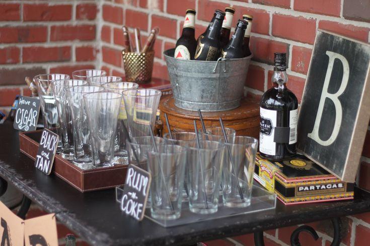 Masculine 40th Birthday Bar   The Homespun Hostess