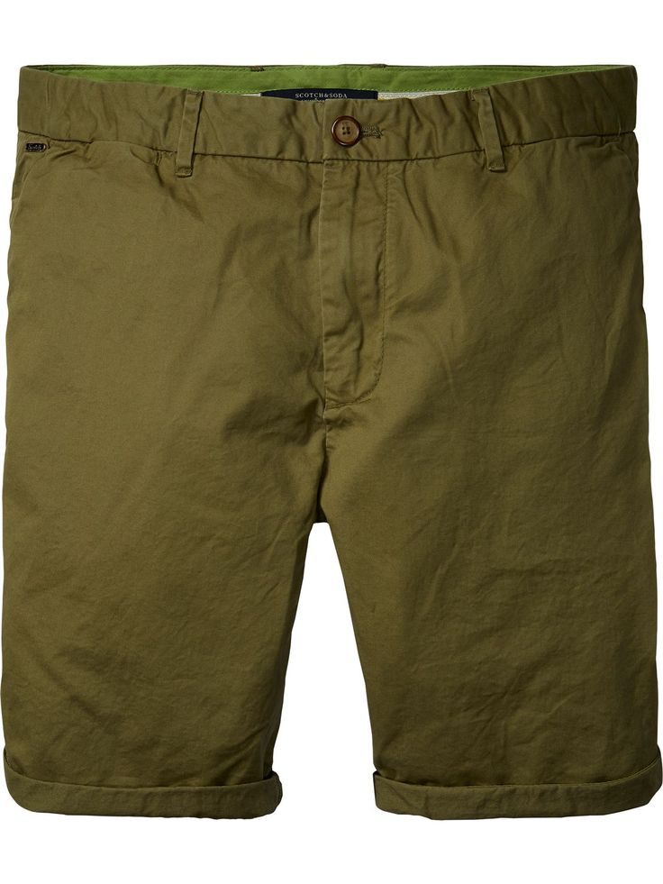 Chino shorts van pima-katoen
