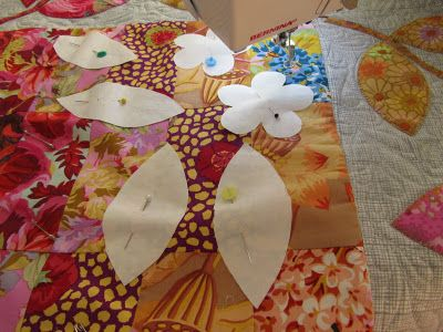 Free motion Machine Quilting using Freezer Paper Shapes