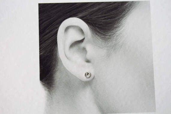 Tiny Sterling Silver Korvakorut 6mm Pieni ympyrä korvakorut