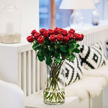 """TRUE LOVE - 20 Stiele Edelrosen """"Red Naomi"""" - Kostenloser Versand - Persönliche Grußkarte gratis #freshflowers #blooms #flowers #roses"""