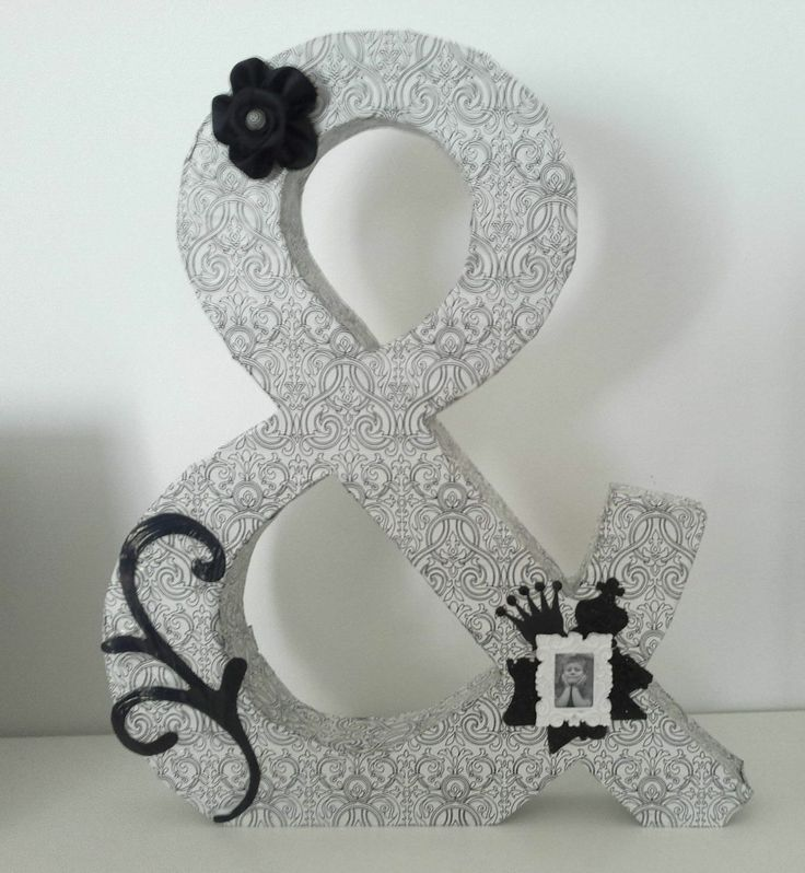 Letras decoradas - Altered letters - ampersand - signo &