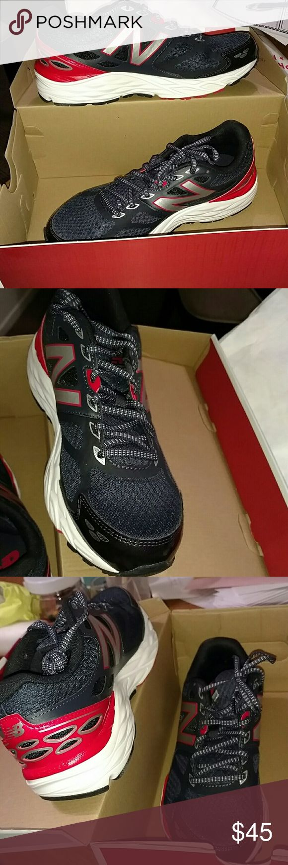 New balance mens size 8 running sneaker New balance size 8 running sneaker. Running course black and red. NWT New Balance Shoes Sneakers